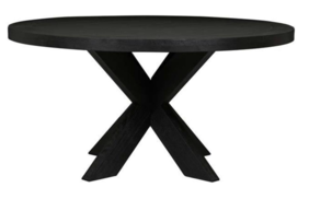 ACRE ROUND DINING TABLE - BLACK