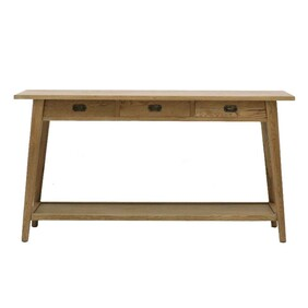 SOLBERG OAK 3 DRAWER CONSOLE TABLE