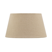 BASKET WEAVE TAPERED DRUM SHADE - FLAX