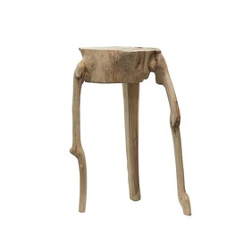 COLTEN WOODEN SIDE TABLE - NATURAL