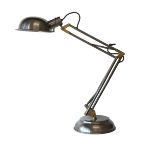 SPRING DESK LAMP WITH HALF DOME SHADE IN BRONZE ANTIQUE FINISH