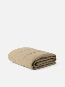 LINEN QUILTED BLANKET - PICKLE