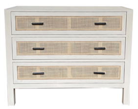 ALAMEIN 3 DRAWER COMMODE - IVORY