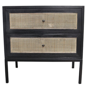 TAIERI SIDE TABLE - BLACK/NATURAL
