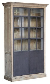 WOOD AND GLASS WALL UNIT