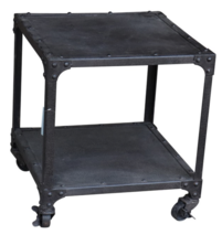 TWO TEIR INDUSTRIAL SIDE TABLE