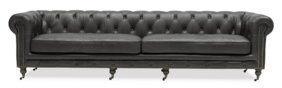 OXFORD CHESTERFIELD SOFA FOUR SEATER - ONYX
