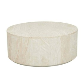 ELLE ROUND BLOCK COFFEE TABLE - NATURAL