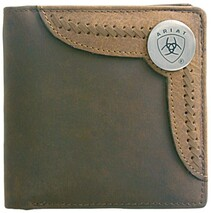 BI-FOLD WALLET - TWO TONED ACCENT OVERLAY