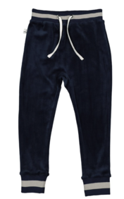 VELOUR PANT IN MIDNIGHT