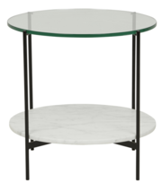 CLERMONT LAYER MARBLE SIDETABLE