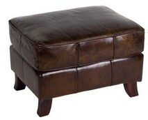 TRADITIONAL STYLE  OTTOMAN - VINTAGE CIGAR