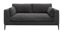 ROSSI 2.5 SEATER SOFA - RELAXED BLACK