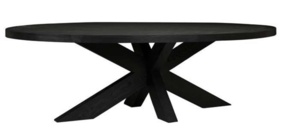 ACRE OVAL DINING TABLE - BLACK