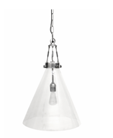 HANGING LAMP WITH BRUSHED PEWTER STYLE - LARGE