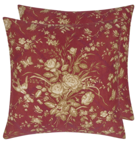 ELIZA FLORAL SUNBAKED RED CUSHION