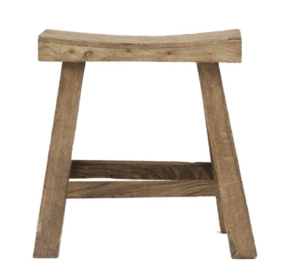 NATURAL RUSTIC CURVED STOOL