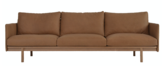 TOLV PENSIVE 3 SEATER SOFA - CAMEL LEATHER