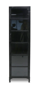 IRON AND GLASS DISPLAY CABINET TALL