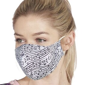 Eco Chic Mask - Musical Notes