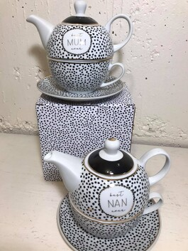 Tea for One Mum Or Nan  - Teapot and Cup