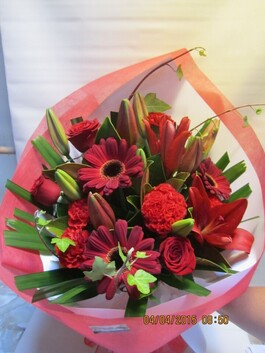 Beautiful Rustic Red Bouquet