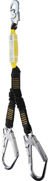 DOUBLE WEBBING LANYARD - CLIMBS - WITH SCAFFOLD HOOKS AND SNAPHOOK