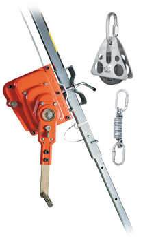 25M WINCH WITH PULLEY AND MOUNTING BRACKET - DESCEND PRO - HEAVY DUTY