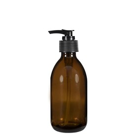 200ml Amber Glass Bottle with Pump