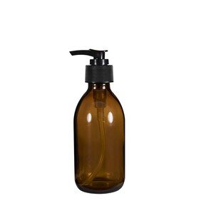 250ml Glass Bottle with Pump