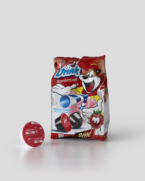 Rene - Strawberry Hot Or Cold Milk x 16 Pods