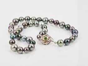 Tahitian Pearl Necklace with flower clasp - POA