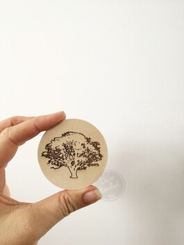 Forrest Themed Engraved Ply Wall Handles (Screw in or Removable)