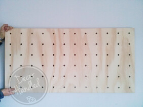 CLEARANCE Seconds Hanging Ply Pegboard 120cm x 60cm PACKAGE - ready to ship