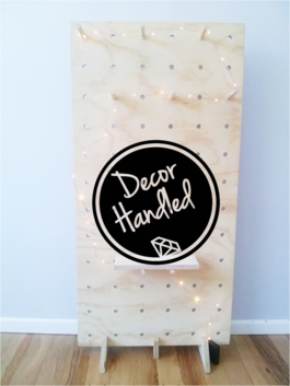 Firsts - Standing Ply Pegboard 120cm x 60cm PACKAGE