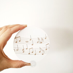 Music Engraved Wall Handle