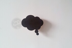 Thought Bubble Wall Handle (Screw-in and Removable)