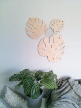 Leaf Wall Handle (Screw in or Removable)