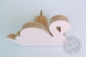 Miss Swan Wall Handle (Screw in or Removable)
