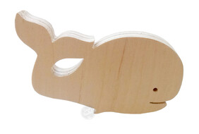 Whale Wall Handle (Screw in or Removable)