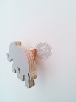 Elle Elephant Wall Handle (Screw in or Removable)