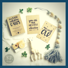 Baby Milestone Cards By KP Designs