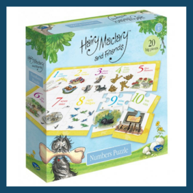 20 Piece Number  Floor Puzzle -Hairy Maclary and Friends
