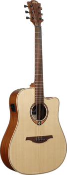Lag Acoustic/Electric Dreadnought Sized Guitar w/Solid Top and Cutaway