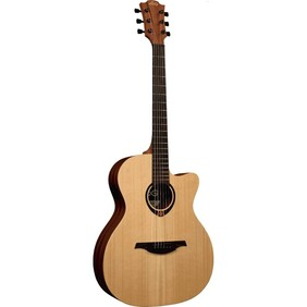 Lag Acoustic/Electric Auditorium Sized Guitar w/Solid Top and Cutaway