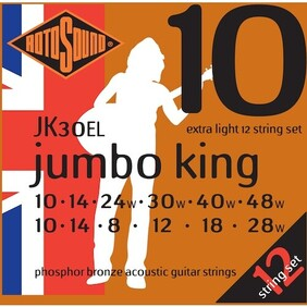 Rotosound 12 String Acoustic Strings - Phosphor Bronze