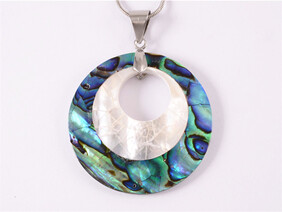Paua & White Mother of Pearl Necklace