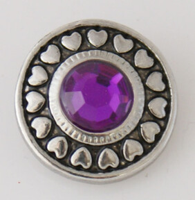 Large Top - Circle of Hearts, Purple Centre