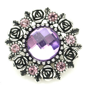 Large Top - Classic Purple Bling and Silver Detail