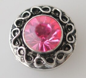 Small Top - Black, Silver with Pink Centre